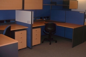 Recycled, Partitions, workstations, filing cabinets, chairs